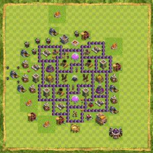 Base coc th 7 Terkuat untuk pertahanan