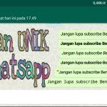 8 Cara Membuat Tulisan Unik di Whatsapp Keren Banget